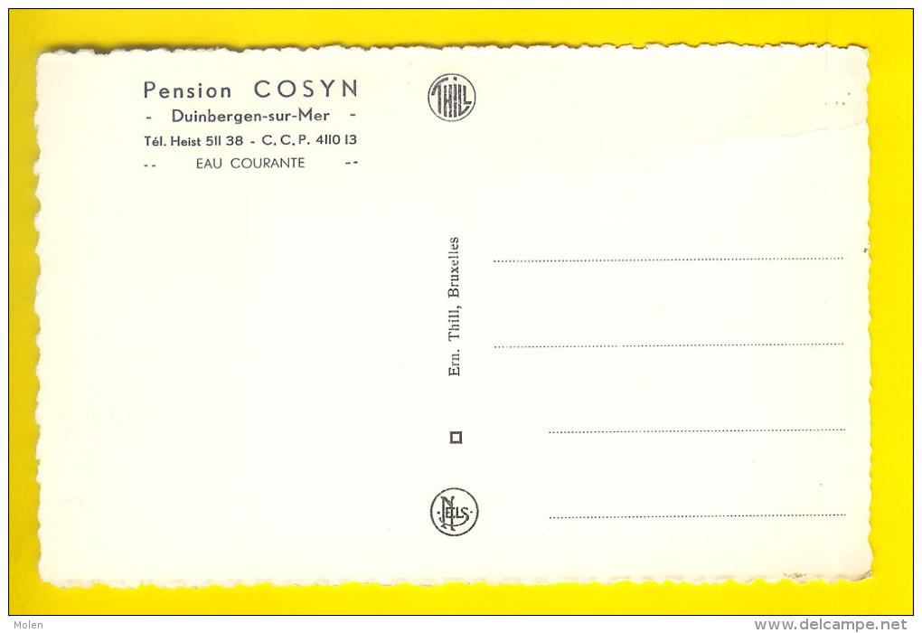 DUINBERGEN-SUR-MER PENSION COSYN HEIST HEYST LITTORAL KUST KNOKKE KNOCKE HÔTEL    1882 - Heist