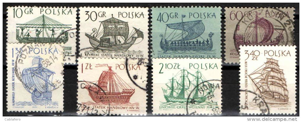 POLONIA - 1963 - IMBARCAZIONI ANTICHE - Usati