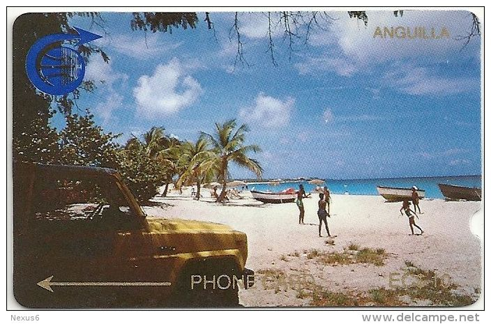 Anguilla - Meads Bay, 1CAGB, 1989, 25.000ex, Deep Notch, Used - Anguilla