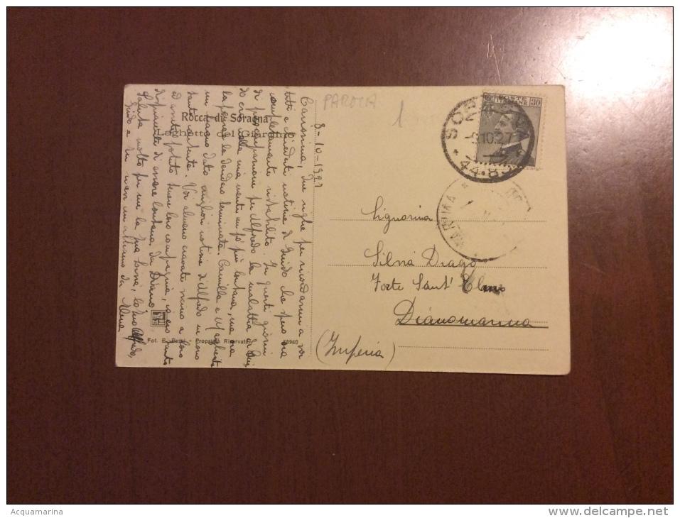 ROCCA DI SORAGNA - Laghetto Del Giardino - Cartolina FP V 1927 - Other Cities