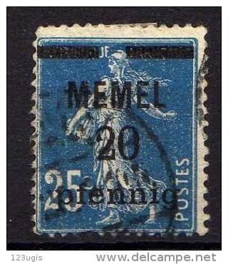 Memel 1920 Mi 20, Gestempelt [261214XI] - Memelgebiet
