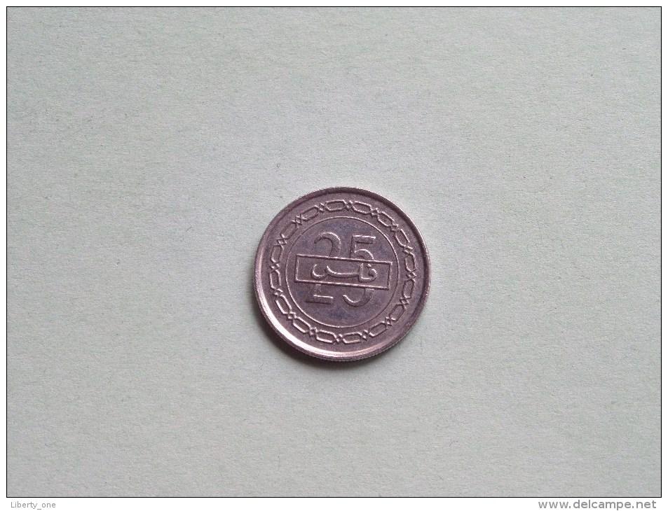1992 ( AH 1412 ) - 25 Fils / KM 18 ( Uncleaned - For Grade, Please See Photo ) ! - Bahreïn
