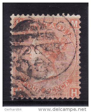 Grande Bretagne - N° 32 (Yvert Et Tellier) Oblitéré - Planche 14 - 1840-1901 (Victoria)