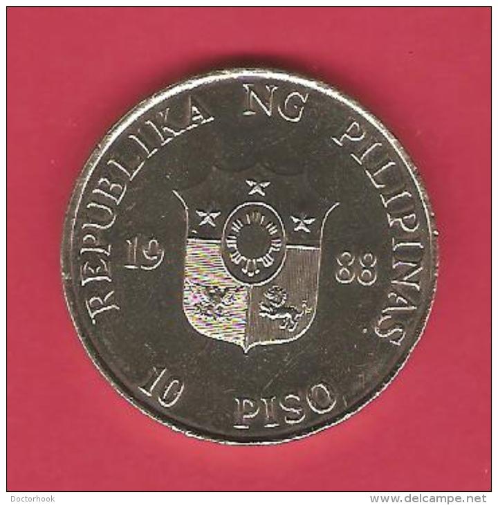PHILIPPINES   10 PISO   1988 - Philippines