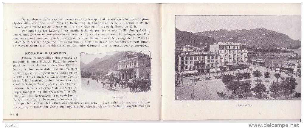 Libretto In Lingua Francese Sulla Città Di Como. 48 Pagine Piu Una Cartina - Unclassified