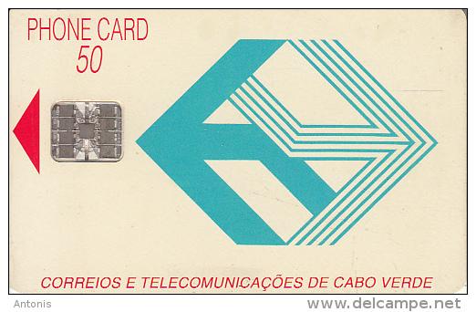 CAPE VERDE - Telecom Logo(blue), First Chip Issue 50 Units, Used - Cap Vert