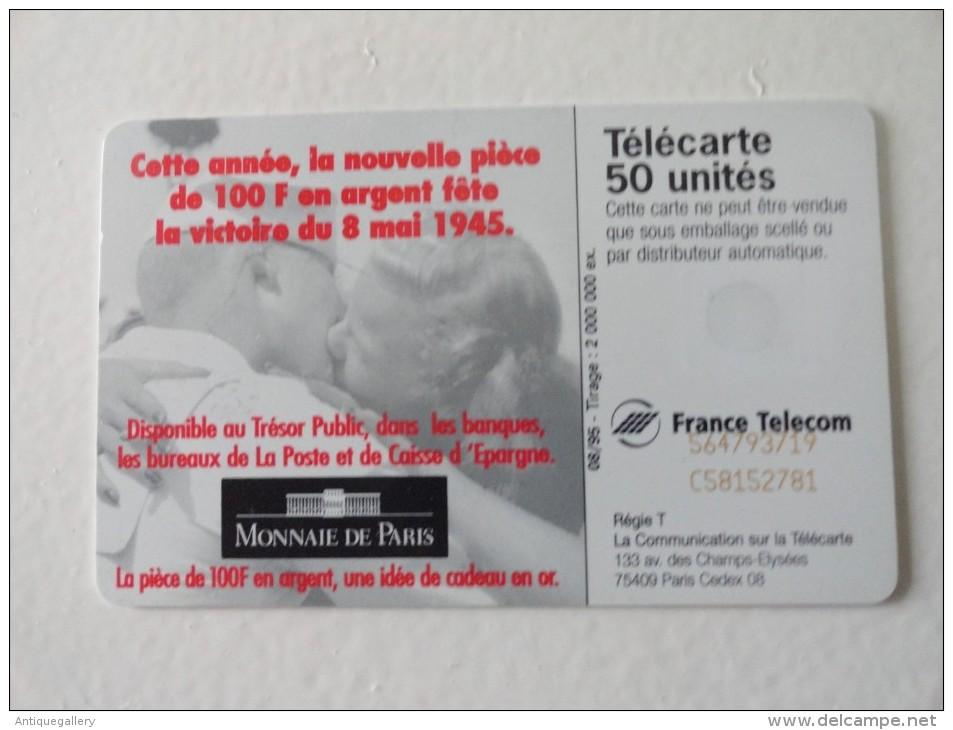 RARE : TRAIT BLANC SUR MONNAIE DE PARIS 50U - Variëteiten