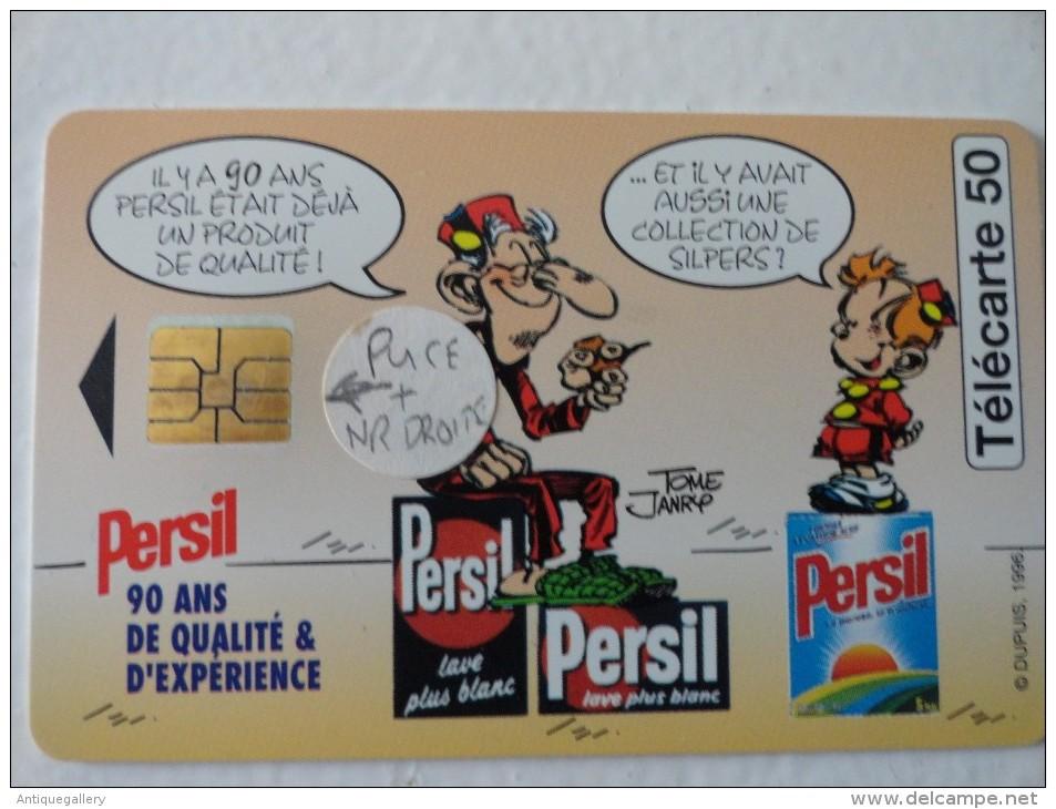 RARE : DECALAGE DE PUCE ET NUMEROTATION A DROITE SUR PERSIL PLUS BLANC 50U - Francia
