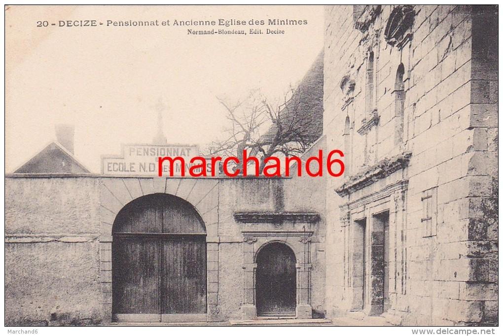 Nièvre Decize Pensionnat Et Ancienne Eglise Des Minimes éditeur Normand Blondeau - Decize
