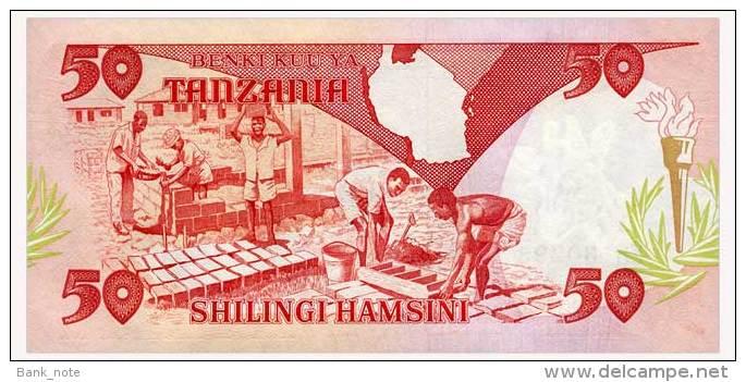 TANZANIA 50 SHILINGI ND(1992) Pick 19 Unc - Tanzanie