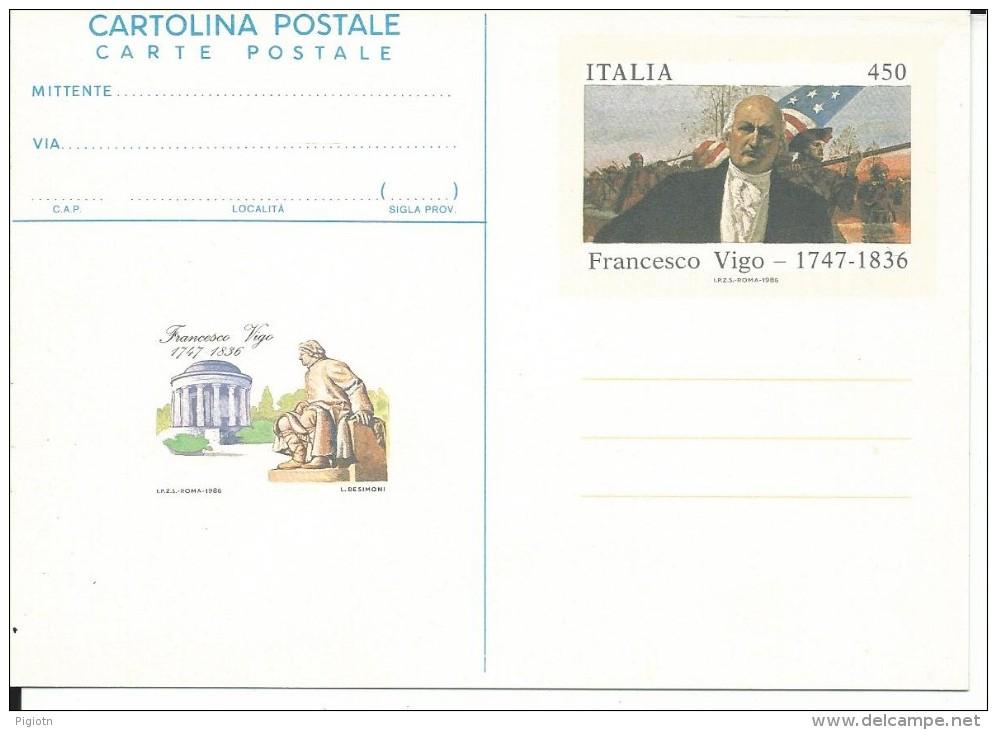 CPC206 -INTERO POSTALE - C206 - FRANCESCO VICO  L. 450 - NUOVA - 6. 1946-.. Repubblica