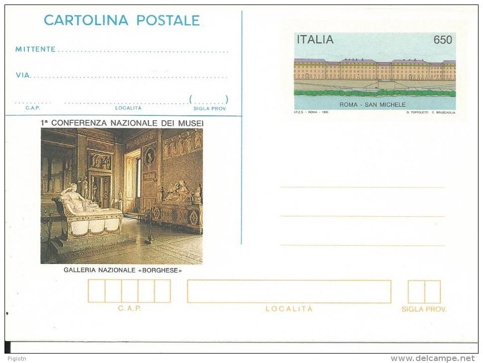 CPC219-INTERO POSTALE - C219 -MUSEI  L. 650 - NUOVA - 6. 1946-.. Repubblica