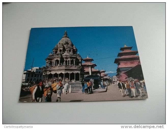 STORIA POSTALE FRANCOBOLLO COMMEMORATIVO NEPAL  DURBAR SQUARE PATAN LALITPUR PORTATORI CON CESTI - Nepal