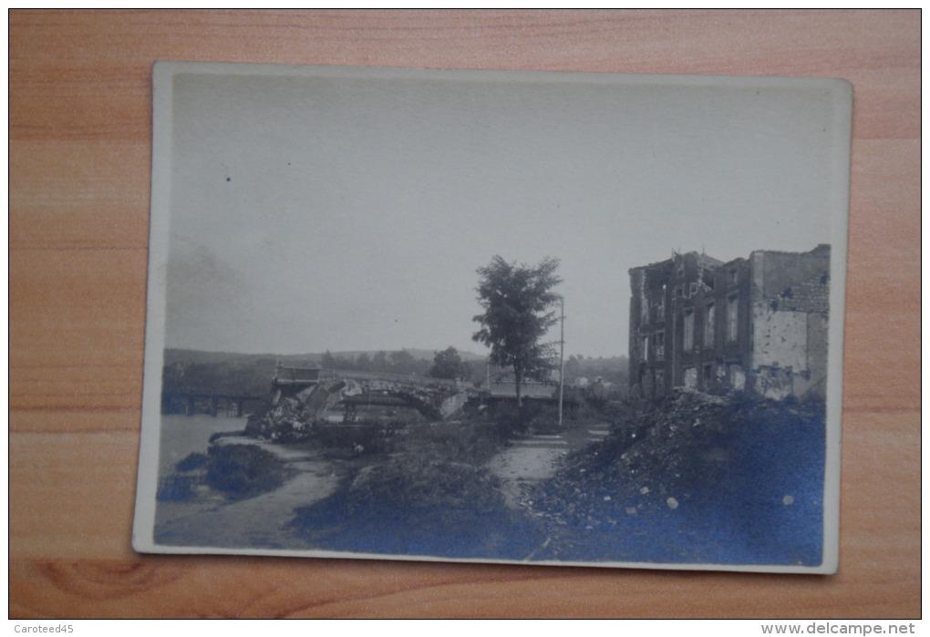 CPA Carte Postale Ancienne Old Postcard 1914 - 1918 Ruines Et Pont Saint Mihiel - Guerre 1914-18