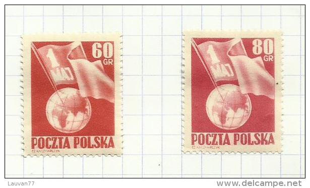 Pologne N°701, 702 Neufs Avec Charnière*  Cote 9.50 Euros - 1944-.... Republic