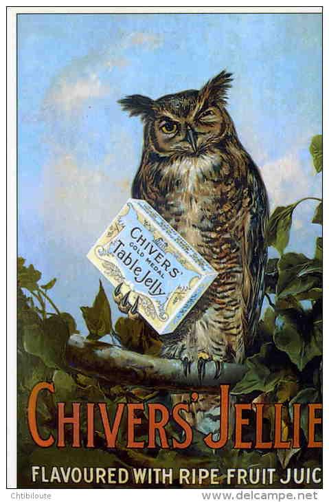 "PUBLICITE     /  AFFICHE SUR CARTE  ""  CHIVERS JELLIES     ""   CPM / CPSM  10 X 15 - Advertising"