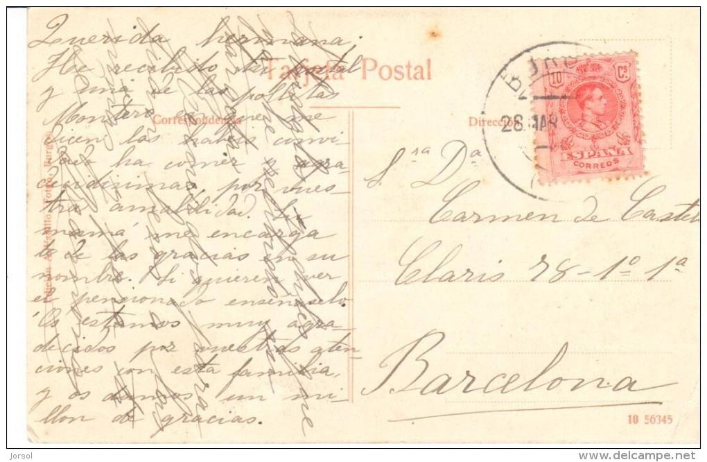 POSTAL   3.- BURGOS - ESPAÑA - MONASTERIO DE LAS HUELGAS -ARTESONADO DEL CLAUSTRO DE SAN FERNANDO - Burgos
