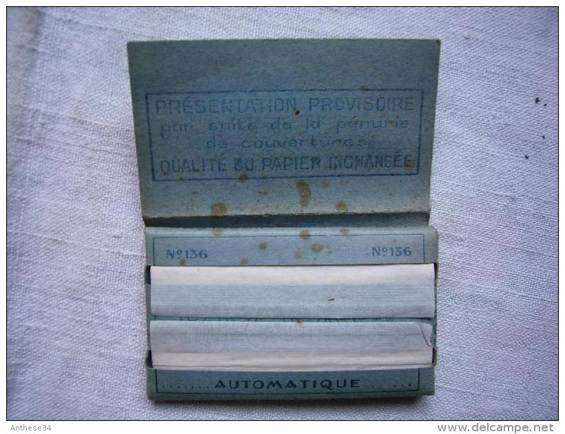 Ancien Paquet De Papier à Rouler Rizla+ N° 136 Automatique Bleu Neuf - Tabac (objets Liés)