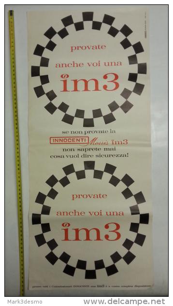 Innocenti Auto Poster Pubblicitario Originale Anni ´60 Genuine Factory Vintage Shop Poster - Cartelli Pubblicitari