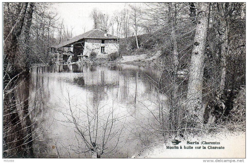 SURIS  16    Moulin à Huile Sur La Charente      Scan Dos Tampon Militaire   Camp Du RUCHARD    -W- - France