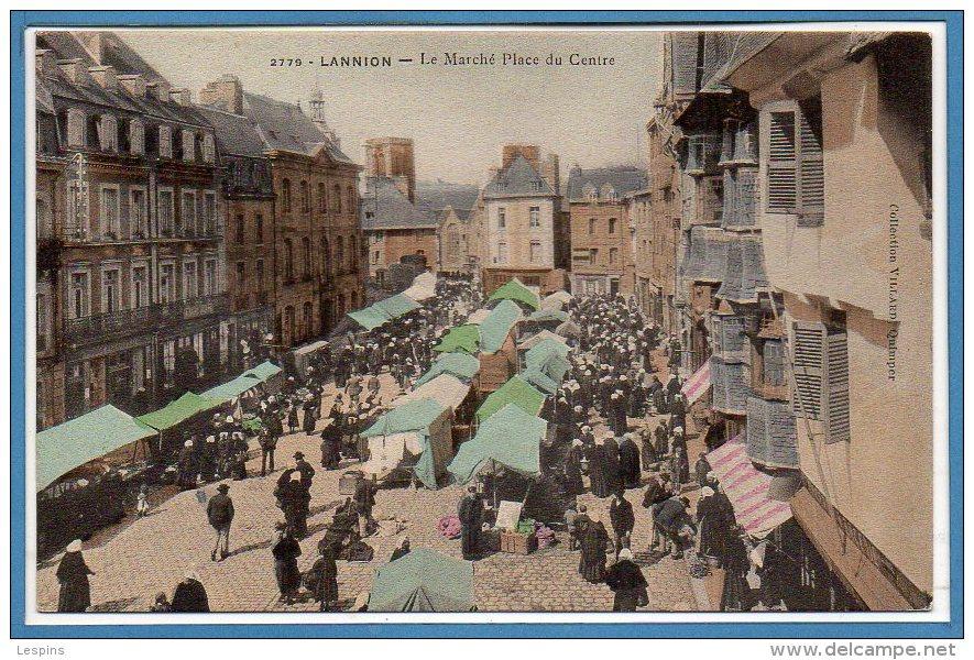 22 - LANNION --  Le Marché Place Du Centre - Lannion