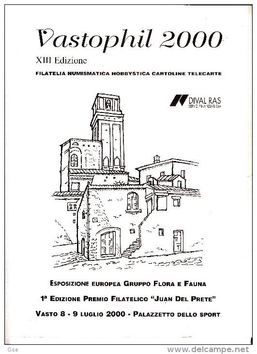 VASTOPHIL  2000  Esposizione Europea Flora E Fauna - - Folder Con Disegno E Firma Donnini - Erinnofilia