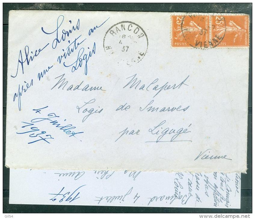 Au Dos D'une Lettre De 1937 , Vignette Orphelins Apprentis D'Auteuil , Menuiserie  -  Mala44 - Commemorative Labels