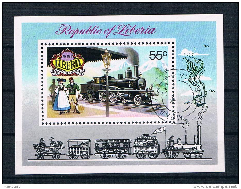 Liberia 1973 Eisenbahn Block 66 Gestempelt - Liberia