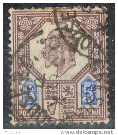 Sello Edward VII, 5 P Fchador GRESHAM HOUSE (Gran Bretaña), Num 113 º - 1902-1951 (Re)
