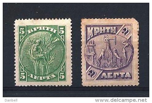 CRETA01) CRETA 1904 -   SCOTT N. 74-75 - Creta