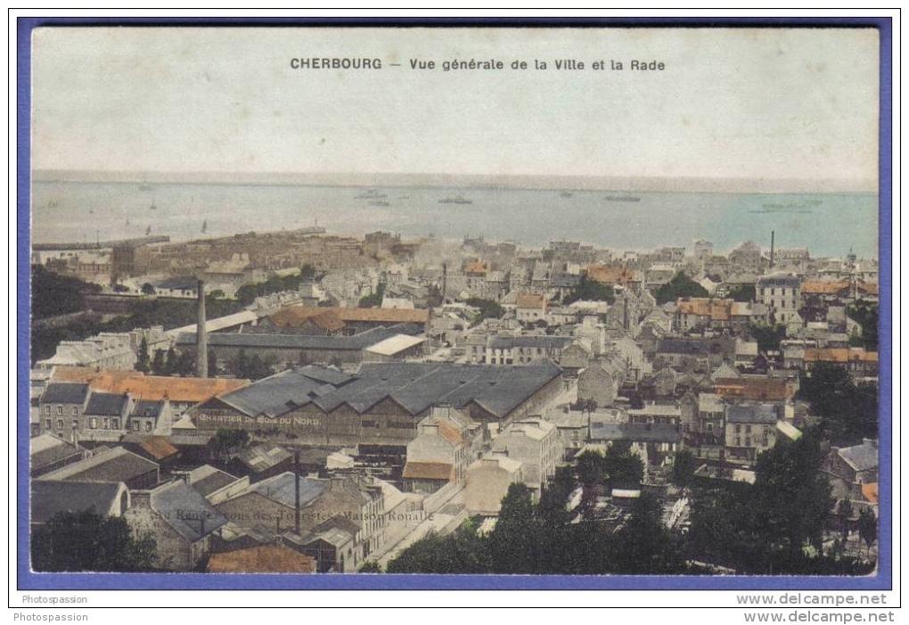 Cherbourg - Vue Générale De La Ville Et La Rade - Chantier De Bois Du Nord - Manche - France - Cherbourg
