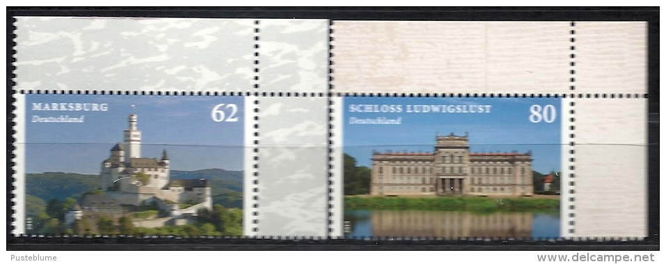 Deutschland / Germany / Allemagne 2015 3122/23 ** Marksburg/Schloss Ludwigslust  (02. Januar 2015) - Nuovi
