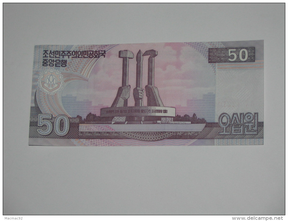 50 Won 2002 - Corée Du Nord  **** EN ACHAT IMMEDIAT ***** - Korea (Nord-)