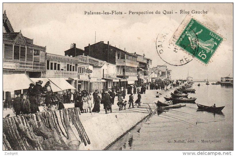 PALAVAS LES FLOTS - PERSPECTIVE DU QUAI RIVE GAUCHE - Palavas Les Flots