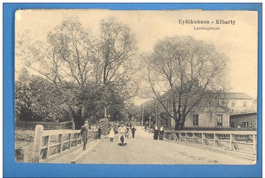LITHUANIA RUSSIA GERMANY EYDTKUHNEN KIBARTY PC. USED SC112 - Lithuania