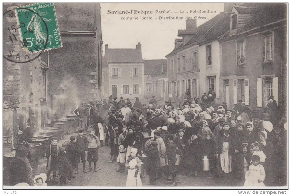 Savigné L´Eveque 72 La Pot Bouille Distribution Des Vivres - Other Municipalities