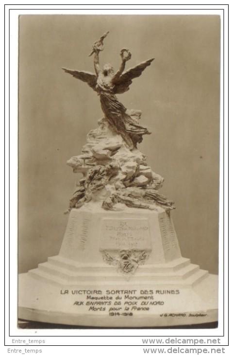 .J.G.ACHARD  Poix Du Nord Maquette Monument Signée Achard - Monuments