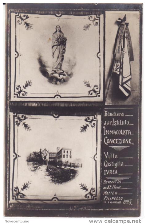 """Torino - Canavese - Ivrea -Fotografica - Villa Castiglia - Bandiera Dell'istituto """"Immacolata Concezione"""" - Sin Clasificación"""