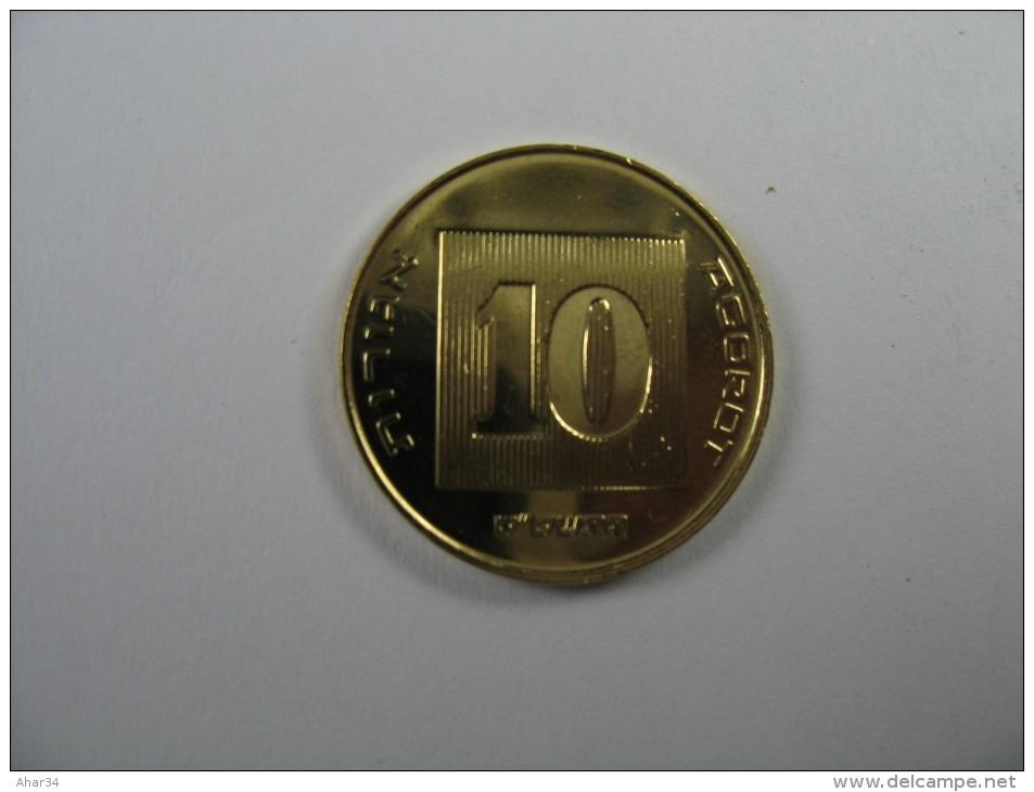 ISRAEL 10 AGORA AGORAH AGOROT 2009 UNC FROM MINT  ROLL - Israel