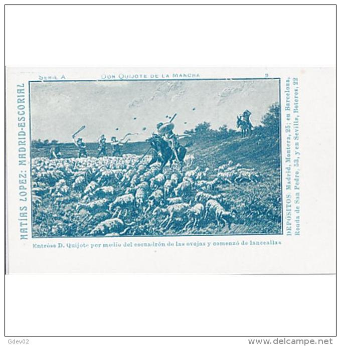 PUTP1812C-LFTD8121TAC.Tarjeta Postal De España.MADRID.EL ESCORIAL.Matias Lopez.serie EL QUIJOTE DE LA MANCHA - Cebras