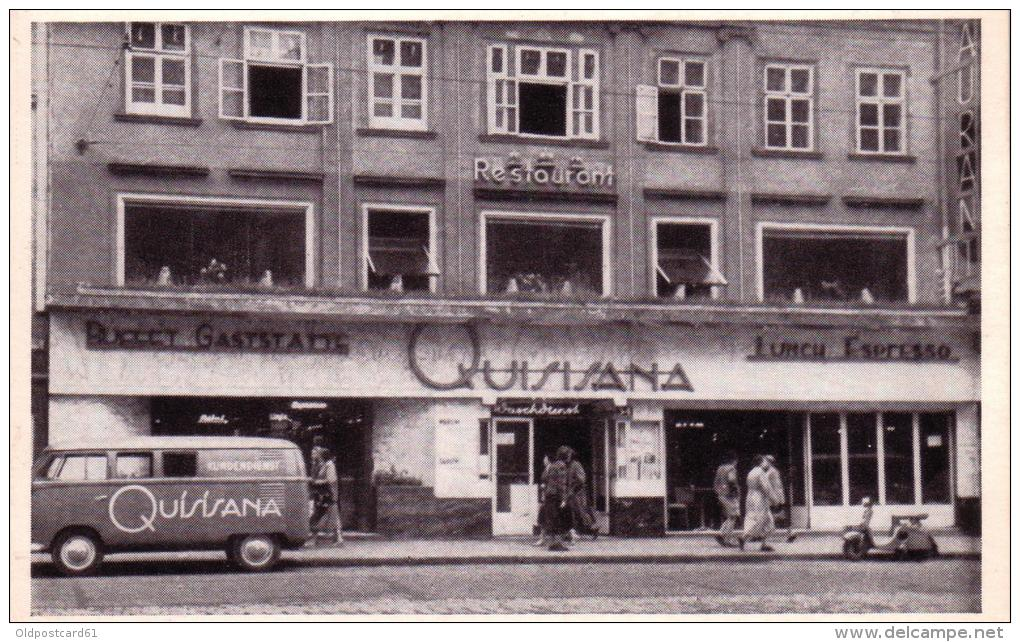 """ALTE AK  WIEN - Restaurant """"QUISISANA"""" Büffet- Gaststätte- Espresso , Ca. 1950 - Vienna Center"""