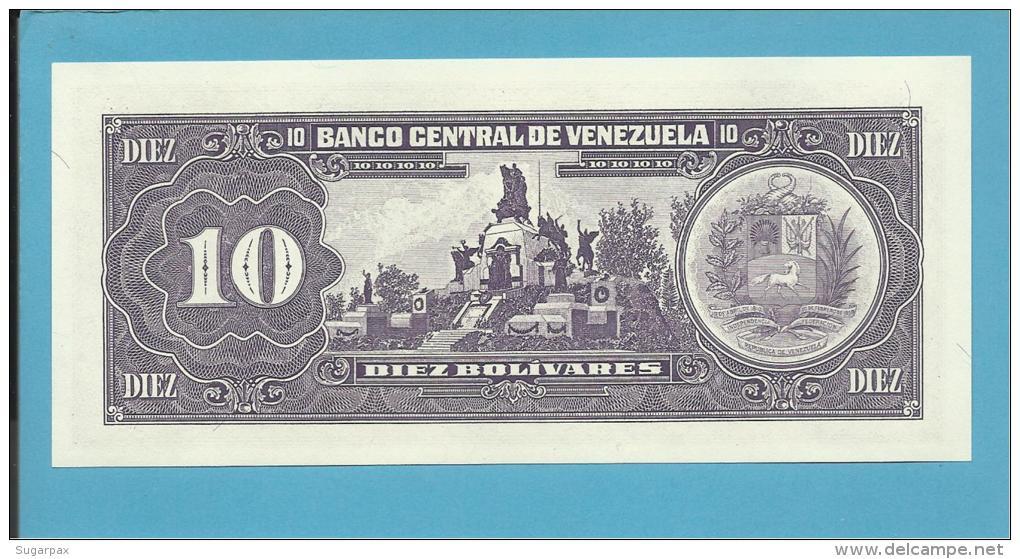 VENEZUELA - 10 BOLÍVARES - 05 / 06 / 1995 - UNC - Pick 61d - BOLÍVAR LIBERTADOR E MARISCAL SUCRE - 2 Scans - Venezuela