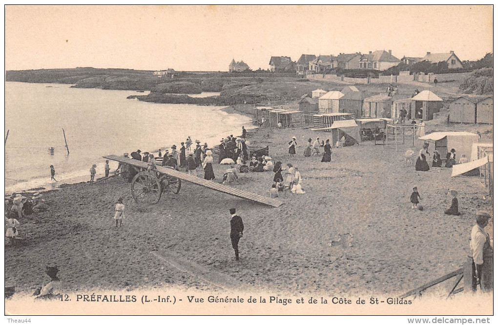 ¤¤  -   12  -    PREFAILLES   -   Vue Générale De La Plage Et De La Côte De Saint-Gildas     -  ¤¤ - Préfailles