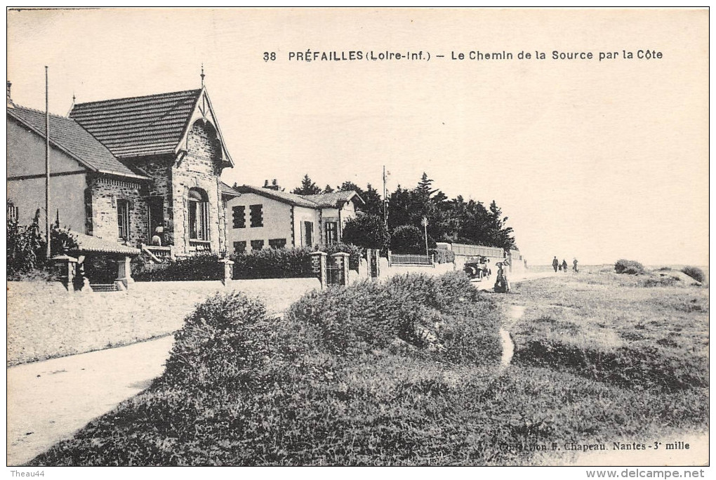 ¤¤  -   38  -    PREFAILLES   -  Le Chemin De La Source Par La Côte -  ¤¤ - Préfailles