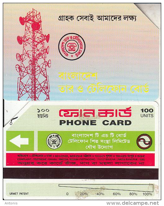 BANGLADESH(Urmet) - Radio Station(reverse B, Thin Band-text On 3 Lines, Tel 3285), Used - Bangladesh