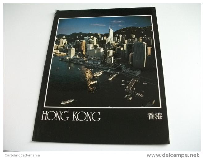 STORIA POSTALE FRANCOBOLLO HONG KONG  MEGA FORMATO NAVE SHIP TRAGHETTI VISIONE DALL'ALTO - Cina (Hong Kong)
