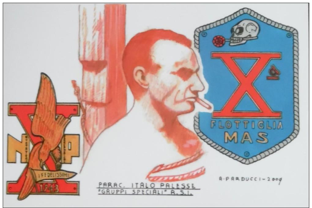 REPUBBLICA SOCIALE ITALO PALESSE NUCLEI SPECIALI PARACADUTISTI DECIMA MAS - Guerre 1939-45