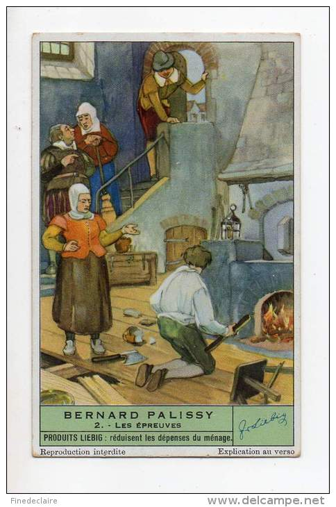 Chromo Liébig - Bernard Palissy - Les épreuves - N°2 - Liebig