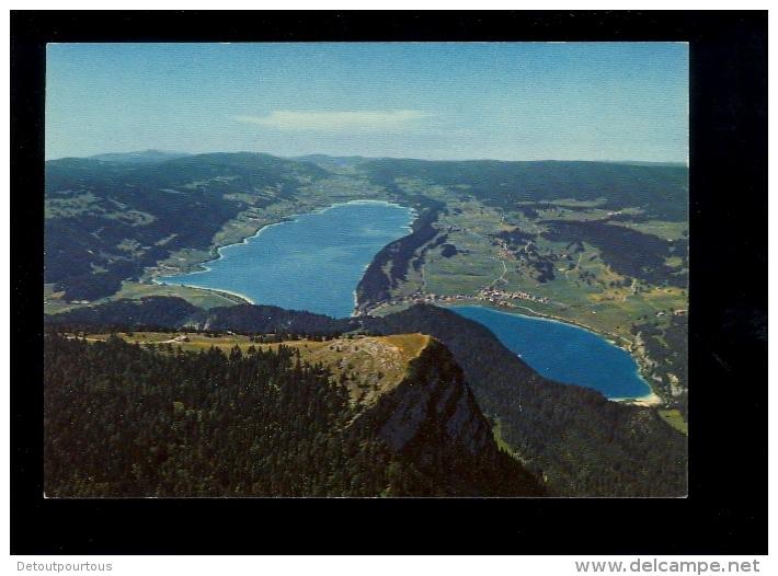 Sommet De La DENT DE VAULION Jura Vaudois Vaud : Lacs De Joux Et Brenet  Vue Aérienne - VD Vaud