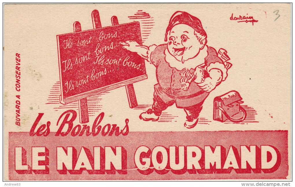 Buvard A Conserver - Les Bonbons, Le Nain Gourmand - Alimentare